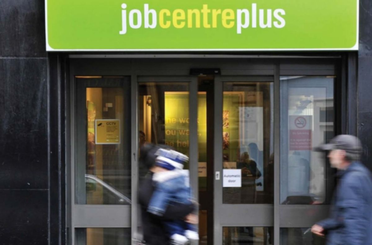 Jobcentre plus with people walking past
